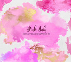 Pink Ink PNG Graphic Elements by DigitalCurio