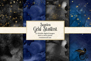 Seamless Gold Stardust Digital Paper patterns by DigitalCurio