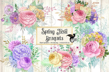 Spring Floral Bouquets by DigitalCurio