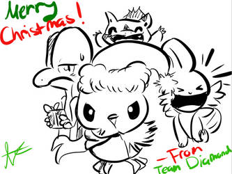 Merry Christmas - Team Diamond by MusicalCombusken