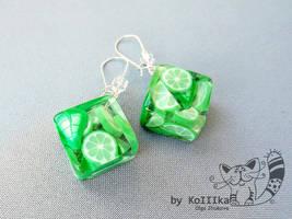 Earrings - Mojito by polyflowers