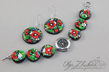 jewelry Set by polyflowers