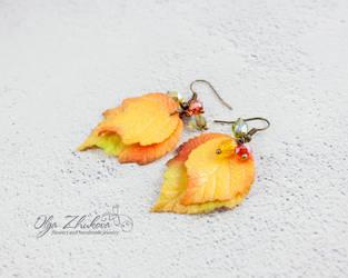 Fall leaf earrings by polyflowers