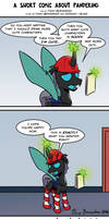 A Short Comic About Pandering by Pony-Berserker