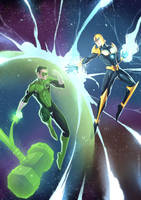 Green Lantern vs Nova by alanscampos