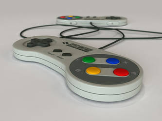 SNES Controllers by DaveCox