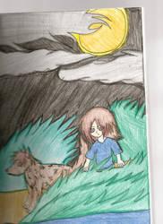 Full Moon by ch-ibi-wof-angel