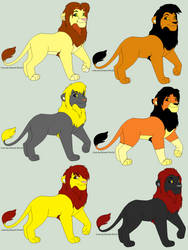 Adoptable Males by ch-ibi-wof-angel