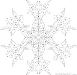 Coloring Page #13 'Snowflake' by fewilcox