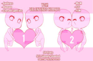 ||YCH|| Valentines Hearts (CLOSED) by RoseGotham