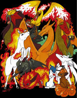 Fire Pokemon GO by TheRaineDrop