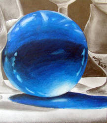 Blue Acrylic Orb by krisa731