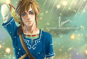 Zelda Breath Of The Wild- Link by Laovaan