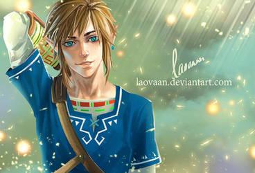 Zelda Breath Of The Wild- Link by Laovaan