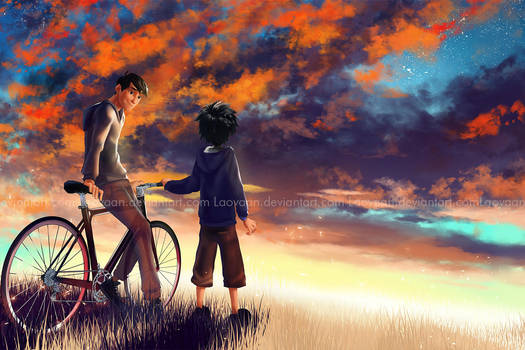 If you were here - Hiro and Tadashi by Laovaan