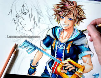 Kingdom Hearts II - Sora and Riku (WIP) by Laovaan