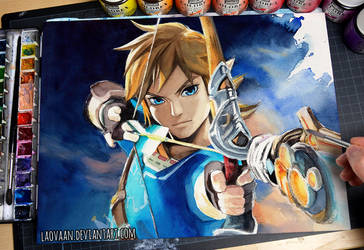 Zelda: Breath of the Wild - Watercolor by Laovaan