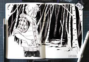 inktober 2017 - #5 Long by Laovaan