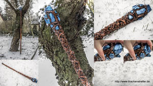 Mage staff / Magier Stab / Crystal staff Wood by SchmiedeTraum