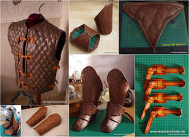 Leather Gambeson parts 1 by SchmiedeTraum