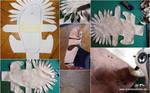 Sandals / Leather felt shoes combination 1/3 by SchmiedeTraum