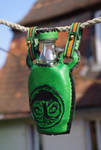 Drink bottle covered in leather by SchmiedeTraum