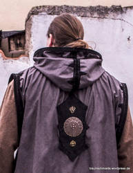 Damast thorn cloak coat hoody - leather works 1 by SchmiedeTraum