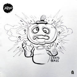 INKTOBER01 | Pumpkin-headed by jonozoom