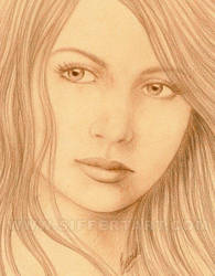 Sepia Woman II by siffert