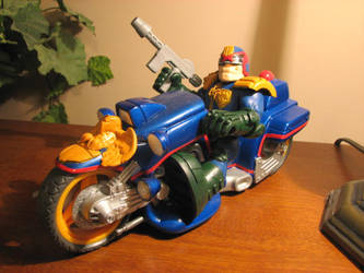judge dredd and bike finished by ebooze