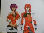 Ayumi and Riku by Rikien