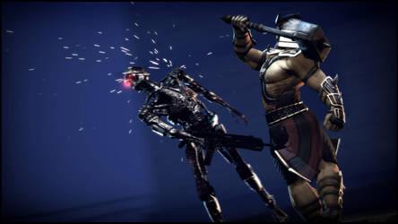 Shao Kahn VS The Terminator by Mask1985