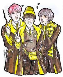 BTS x Hogwarts Houses (Hufflepuff) by Sophie483