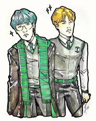 BTS x Hogwarts Houses (Slytherin) by Sophie483