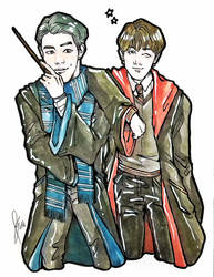 BTS x Hogwarts Houses (Ravenclaw and Gryffindor) by Sophie483