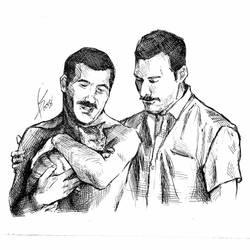 { Freddie Mercury and Jim Hutton } by Sophie483