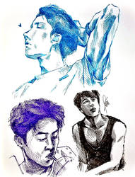 doodling k-pop by Sophie483