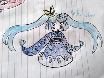 blue sea Mikotsuhime by LazyLatiasLover