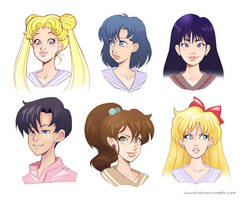 Sketch compilation, Sailor Moon by Louistrations