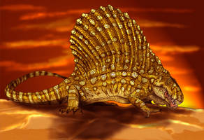 Dimetrodon by Fafnirx