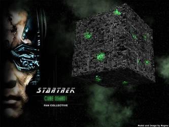 Trek Wallpaper: Borg Cube by Magmarama