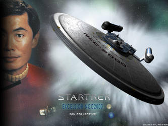 Trek Wallpaper: USS Excelsior by Magmarama