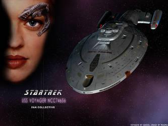 Trek Wallpaper: USS Voyager by Magmarama