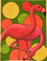 Citrus Flamingos by Lady-KL