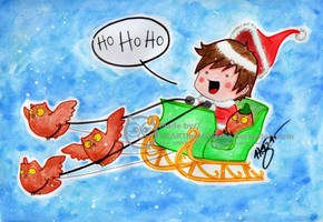 Santa Adam is coming to Town by Susutastic