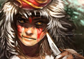 Princess Mononoke by Kureenbean