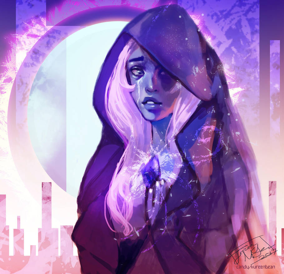"I don't know where this came from but my hand was like ""lets just draw something like..."" and then I was like ""oh okay, blue diamond?"" Yes, here is thy blue diamond."