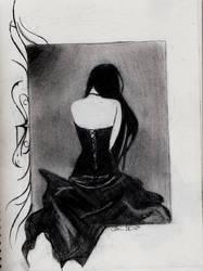 Black Corset by Romance-in-Sepia