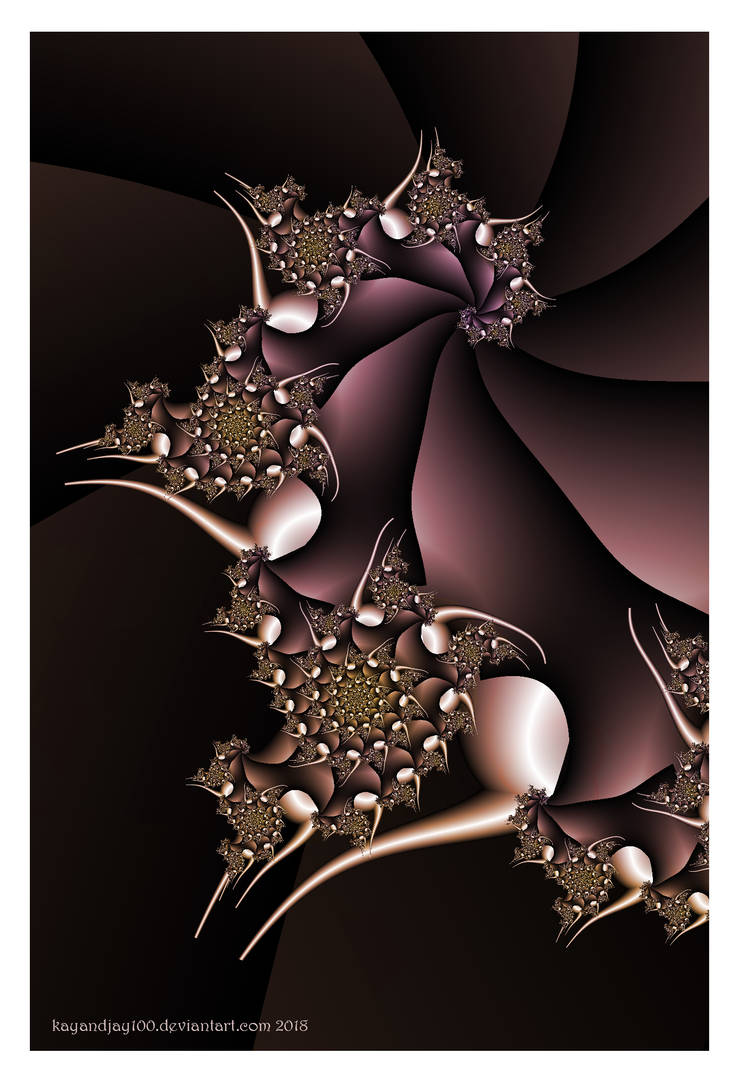 Abstract in Burgundy by kayandjay100