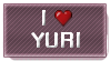 I love Yuri STAMP by Yuna-Breikoft